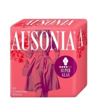 AUSONIA AIR DRY COMPRESA SUPER CON ALAS 12 UNIDADES