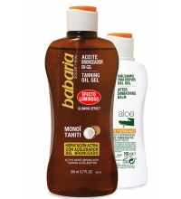 BABARIA ACEITE BRONCEADOR GEL MONOÏ TAHITI 200ML+AFTER SUN ALOE 100ML
