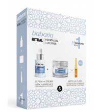 BABARIA ACIDO HIALURONICO CREMA FACIAL 50ML+ AMPOLLAS 1x2ML+ SERUM 30ML SET REGALO