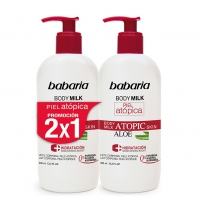 BABARIA BODY MILK PIEL ATOPICA ALOE VERA 2 X 400ML