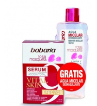 BABARIA SET ROSA MOSQUETA SERUM 9 EFECTOS 50 ML + AGUA MISCELAR 200 ML