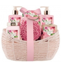 BECASAN NATURE CESTA HIBISCO Y ALGODON 6 PIEZAS SET REGALO