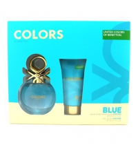 BENETTON BLUE EDT 50 ML + B/LOC 50 ML SET REGALO