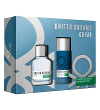 BENETTON UNITED DREAMS GO FAR EDT 100 ML + DEO VAPO 150 ML SET REGALO