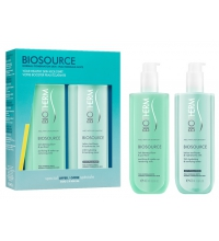 BIOTHERM BIOSOURCE SET LECHE DESMAQUILLANTE 400 ML+LOCION TONIFICANTE 400 ML