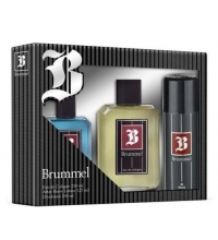 BRUMMEL EDC 250 ML + A/S LOT 125 ML + DEO 200 ML VAPO SET REGALO