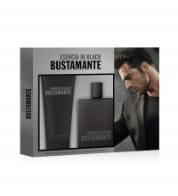 BUSTAMANTE ESENCIA IN BLACK EDT 100 ML + A/S BALM 75 ML SET REGALO