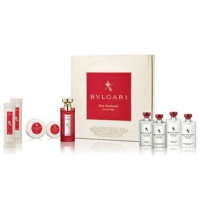 BVLGARI EAU PARFUMÉE AU THE ROUGE EDC 75 ML 9 PIEZAS DELUXE SET
