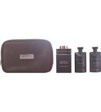 BVLGARI MAN IN BLACK EDP 100 ML + A/S BALM 75 + S/G 75 + NECESER SET