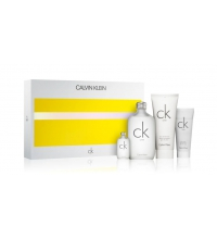 CK ONE EDT 200 ML + B/ L 200 ML + GEL 100 ML + MINI EDT 15 ML SET REGALO