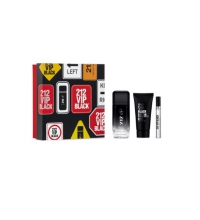 CAROLINA HERRERA 212 VIP BLACK EDP 100 ML + GEL BAÑO 100 + MINIATURA 10 ML SET