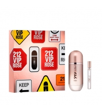 CAROLINA HERRERA 212 VIP ROSE EDP 80 ML + MINIATURA 10 ML SET REGALO