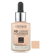 CATRICE BASE DE MAQUILLAJE HD LIQUID COVERAGE 010 LIGHT BEIGE 30 ML