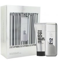 CAROLINA HERRERA 212 VIP MEN EDT 100 ML + BATH AND SHOWER GEL 100 ML TRAVEL SET