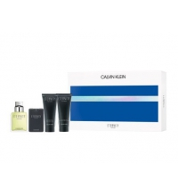 CK ETERNITY FOR MEN EDT 100 ML + EDT 20 ML  + A/S BALM 100 ML + GEL 100 ML SET REGALO