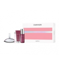 CK EUPHORIA WOMAN EDP 100 ML + B/L 100 ML + MINI 10 ML + BODY MIST 150 ML SET REGALO