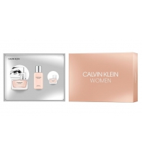 CALVIN KLEIN WOMEN EDP 50 ML + EDP 5 ML + B/LOC 100 ML SET REGALO