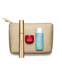 CLARINS BEAUTIFUL EYES COLLECTION (WONDER PERF. MASCARA + DESM 30 ML+ PREB. LISSE 4 ML + NECESER) SET