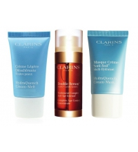 CLARINS DOUBLE SERUM 30 ML + HYDRAQUENCH 2 X15 ML SET REGALO