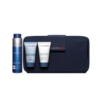 CLARINS MEN GEL REVITALIZANTE 50 ML + GEL EXFOLIANTE + SHAMPOO + NECESER SET REGALO
