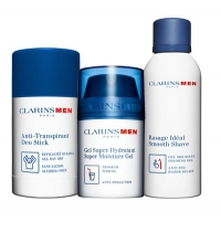 CLARINS MEN ESSENTIALS SET (DEO + GEL + ESPUMA AFEITAR)
