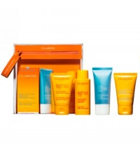 CLARINS SUN ESSENTIALS TRAVEL 5 PIEZAS SET REGALO NECESER