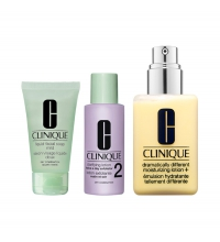CLINIQUE GREAT SKIN 123 (DRAMATICALLY LOTION 200 ML + JABON + TONICO) SET REGALO PIELES SECAS/MIXTAS