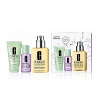 CLINIQUE 3 STEPS (LOCION 125 ML + JABON + LOCION) SET ESPECIAL PIEL NORMAL/SECA TIPO II