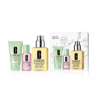 CLINIQUE 3 STEPS (GEL 125 ML + JABON + TONICO) SET REGALO PIELES MIXTAS-GRASAS