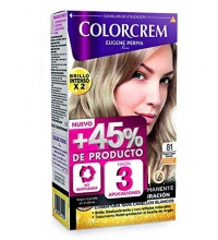 COLORCREM COLOR & BRILLO TINTE CAPILAR +45% DE PRODUCTO 81 RUBIO CLARO CENIZA