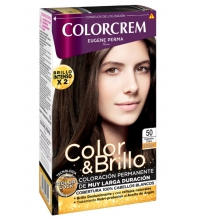 COLORCREM COLOR & BRILLO TINTE CAPILAR 50 CASTAÑO CLARO