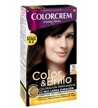 COLORCREM COLOR & BRILLO TINTE CAPILAR 30 CASTAÑO OSCURO