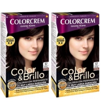 COLORCREM COLOR & BRILLO TINTE CAPILAR 57 MARRON CHOCOLATE x 2 UDS