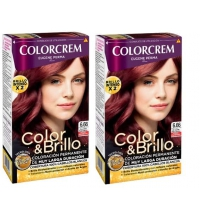 COLORCREM COLOR & BRILLO TINTE CAPILAR 6.66 CHOCOLATE ROJO INTENSO x 2 UDS