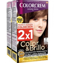 COLORCREM COLOR & BRILLO TINTE CAPILAR 77 MARRON GLACE  x 2 UDS