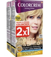 COLORCREM COLOR & BRILLO TINTE CAPILAR 900 RUBIO CLARO NATURAL  x 2 UDS