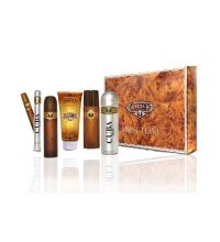 CUBA GOLD EDT 100 ML + EDT 35 ML + AFTERSHAVE 100 ML + B/SPRAY 200 ML + S/GEL 200 ML SET REGALO