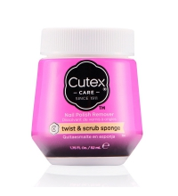 CUTEX SPONGE POLISH REMOVER TWIST & SCRUB QUITAESMALTE EN ESPONJA 52 ML