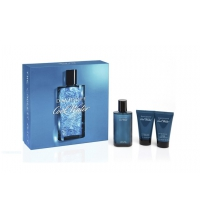DAVIDOFF COOL WATER MEN EDT 125ML +S/G 75 + A/S 75 ML SET REGALO