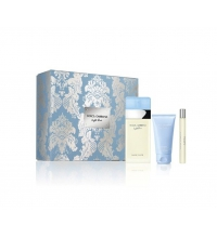 DOLCE & GABBANA LIGHT BLUE EDT 100 ML +MINI 10 ML + B/LOTION 100 ML SET REGALO
