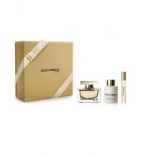 DOLCE & GABBANA THE ONE EDP 75 ML + B/LOC 100 ML + MINI 7.4 ML SET REGALO