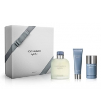 DOLCE & GABBANA LIGHT BLUE POUR HOMME EDT 200 ML + SHOWER GEL 50 ML + DEO STICK 75 ML SET REGALO