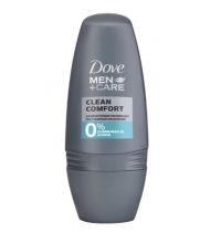 DOVE MEN DESODORANTE CLEAN CONFORT 0% ROLL ON 50 ML