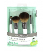 ECOTOOLS ON-THE-GO STYLE SET DE 4 BROCHAS + NECESER