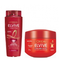 L'OREAL ELVIVE COLOR VIVE CHAMPU 250ML + MASCARILLA CABELLOS TEÑIDOS 300 ML