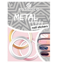 ESSENCE NAIL ART STICKERS PARA UÑAS 04 METAL STRIPES