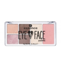ESSENCE PALETA ROSTRO Y OJOS 4 SOMBRAS + COLORETE + ILUMINADOR 01 GLOW FOR IT