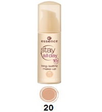 ESSENCE STAY DAY 16H MAQUILLAJE DE LARGA DURACIÓN 30 ML 20 SOFT NUDE