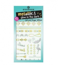 ESSENCE TATTOOS TEMPORALES UÑAS Y DEDOS 01 LET METALS GO GLOW