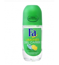 FA LIMONES DEL CARIBE DESODORANTE ROLL ON 50 ML